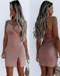 Елегантна дамска рокля в розово - код 8979