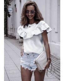 Дамска блуза в бяло - код 753
