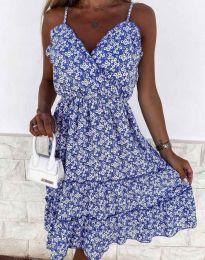 Атрактивна рокля на цветя - 3265 - 4