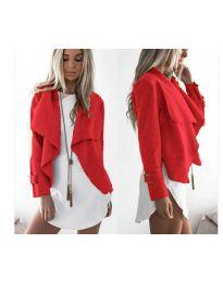 Дамско яке в червено - код 4033
