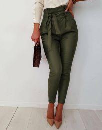 Дамски панталон в масленозелено - код 6194