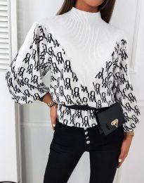 Дамска блуза в бяло - код 3829