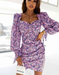 Дамска рокля с флорален десен - код 2916 - 1