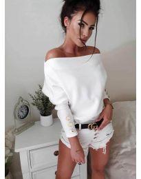 Дамска блуза в бяло - код 3732
