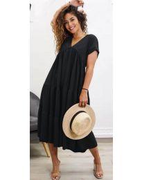 Феерична рокля в черно - код 4475