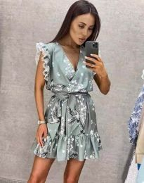 Атрактивна дамска рокля в сиво - код 8125