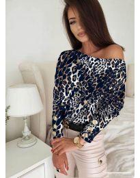 Дамска блуза с ефектен десен - код 5156 - 1