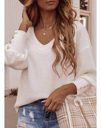 Елегантна дамска блуза в бяло - код 812