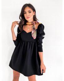 Елегантна рокля в черно - код 390
