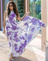 Дълга рокля с флорален десен - код 2963 - 7