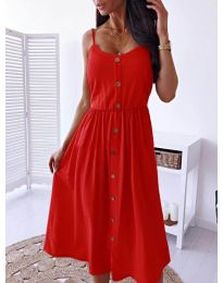 Изчистена рокля цвят червено - код  5057