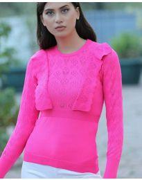 Дамска блуза в цвят циклама - код 2214