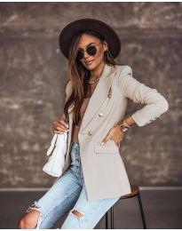 Елегантно дамско сако в бежово - код 5255