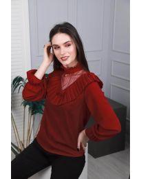 Дамска блуза в бордо - код 6277