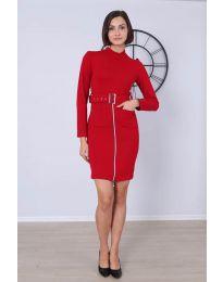 Дамска рокля в червено - код - 2053