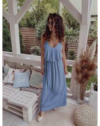 Дълга дамска рокля в светло синьо - код 635