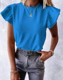 Дамска тениска в синьо - код 6215
