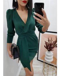 Елегантна дамска рокля в тъмнозелено - код 0515