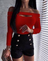 Екстравагантна дамска блуза в червено - код 11601