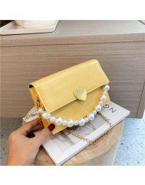 Дамска чанта в цвят горчица - код B35/7786