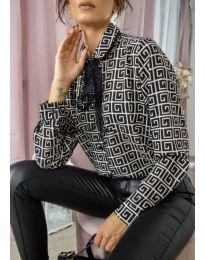 Дамска риза с ефектен десен - код 690