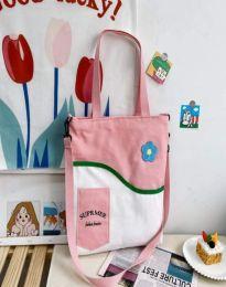 Ежедневна дамска чанта в цвят праскова - код B577