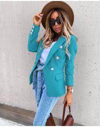 Елегантно дамско сако в цвят мента - код 4141