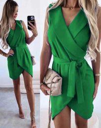 Атрактивна дамска рокля в зелено - код 7793