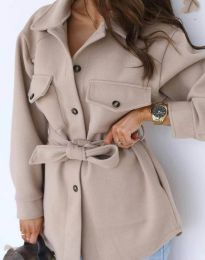 Дамско палто в бежово - код 4966