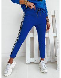 Дамски панталон в синьо - код 3062