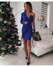Елегантна рокля в синьо - код 15944
