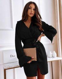 Елегантна рокля в черно - код 2741