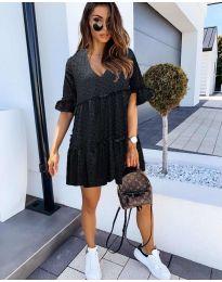 Свободна дамска рокля в черен цвят - код 278