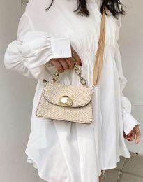 Дамска чанта в бежово - код B458