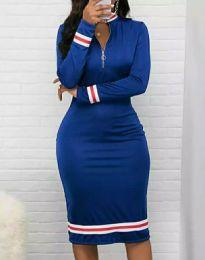 Дамска рокля в синьо - код 3565