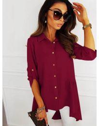 Асиметрична риза в цвят бордо - код 5689