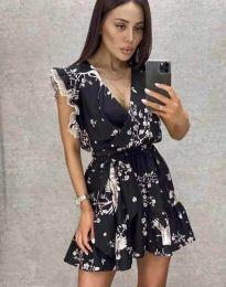 Атрактивна дамска рокля в черно - код 8125