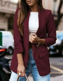 Дамско сако в цвят бордо - код 9648