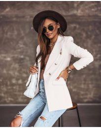 Елегантно дамско сако в бяло - код 5255