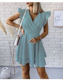 Екстравагантна рокля в цвят мента - код 409