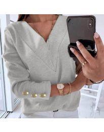 Дамска блуза в сиво - код 0990