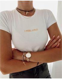 Дамска тениска в бяло - код 961