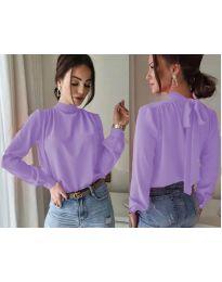 Дамска блуза в лилаво - код 833