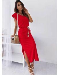 Изчистена рокля в червено - код 6622