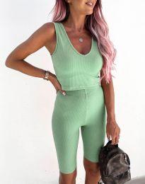 Спортен дамски комплект в цвят мента - код 5713