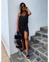 Елегантна рокля в цвят черно - код 0081