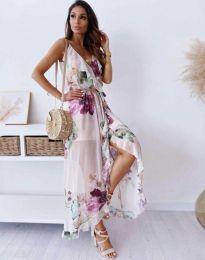 Стилна дълга рокля - код 4800 - 1