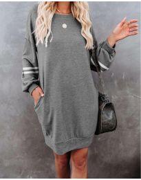 Свободна атрактивна рокля в сиво - код 5925
