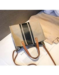 Дамска чанта в цвят капучино - код B103 - 3