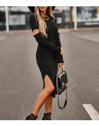 Екстравагантна рокля в черно - 2356